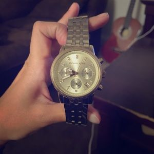 Gold Michael Kors women's watch